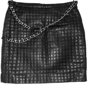 Quilted Lamb Leather Skirt
